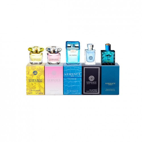 COFFRET MINI VERSACE (Yellow Diamond L + Bright Crystal L + Versace M + Versace for M + Eros M)